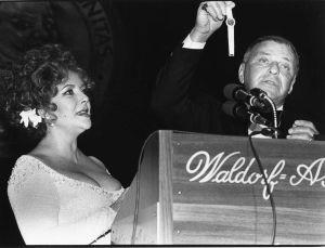 Elizabeth Taylor, Frank Sinatra 1983, NYC